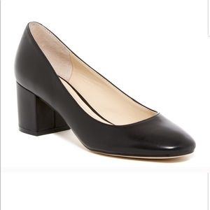 Marc Fisher LTD Black Leather Westin Heels